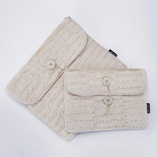 Única tela de piel Minky iPad Tablet casos para Mini estándar de 7'y 10', compatible con la mayoría de tabletas de tamaño, Samsung, etc. es novela, sus Funky y una gran sensación de lujo. Colores impresionantes y gran idea de regalo. Grandes colores: Beige, Negro, Rosa, Cerise y Flo amarillo blanco crema 10'