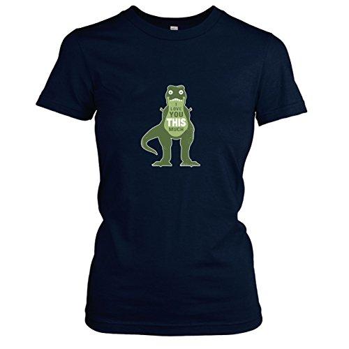 TEXLAB - Dino I love You - Damen T-Shirt, Größe S, (Lebensgroße T Rex Kostüm)