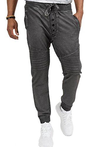 trueprodigy Casual Herren Marken Jogginghose einfarbig Basic, Sweathose cool und stylisch Vintage (Sportlich & Slim Fit), Chino Sweatpant für Männer in Farbe: Grau 6473107-0403-S