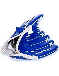 """yeah67886PVC adulto mano izquierda guante guante para exteriores para softball béisbol 10,5""""(azul)"""