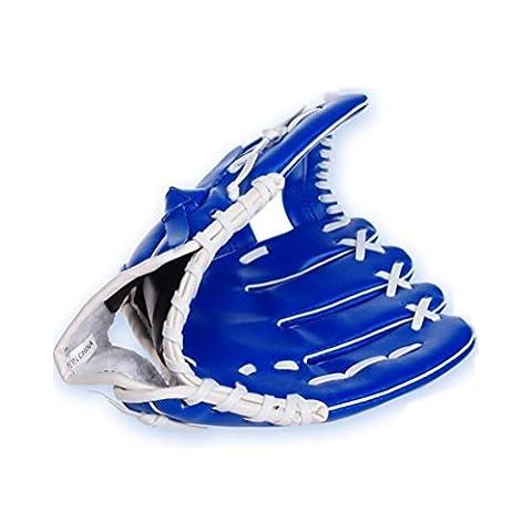 Ulooie 26,7cm Adulte Main gauche Gant Champ extérieur Gant pour softball Baseball (Bleu)