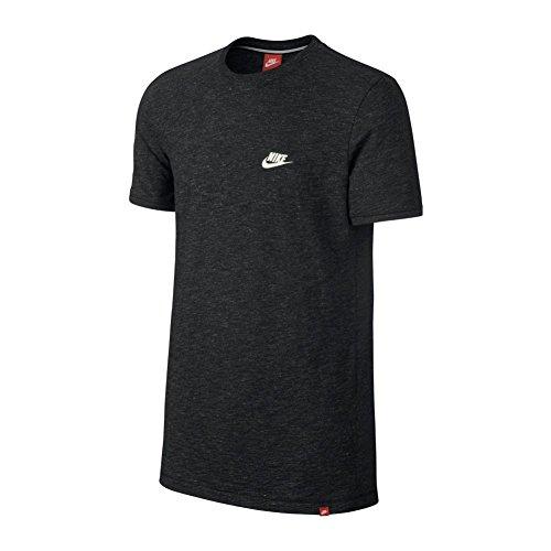 Nike M NSW LEGACY TOP KNT - Kurzärmeln T-Shirt Schwarz Negro