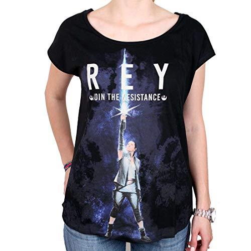 Star Wars Episode 8 - Die Letzten Jedi - Rey Join The Resist Girl-Shirt schwarz XL