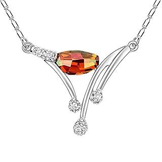 Daesar Schmuck Damenkette Vergoldet Filiale Halskette Zirkonia Strass Anhänger Halskette für Frauen