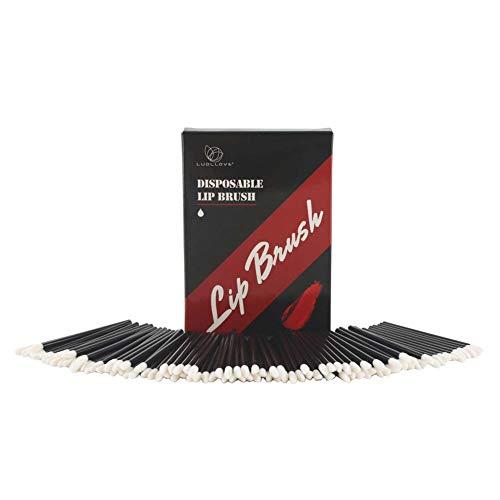 Applikatoren Lippenstift,Luollove 100 Stück Lip Gloss Pinsel Nicht fusselnd und...