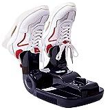 Elektrischer Schuhtrockner Faltbares, ultraviolettes Licht Intelligente Heizung Wärmer Einstellbare 120-Minuten-Timer-Desodorierung Sterilisation zum Trocknen von Schuhen Stiefel Handschuhe,Black