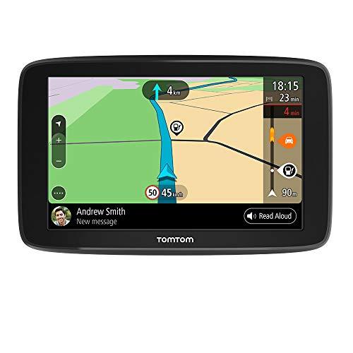 Oferta de TomTom GPS para coche GO Basic, 6 pulgadas, con tráfico y prueba de radares gracias a TomTom Traffic, mapas de la UE, actualizaciones a través de WiFi, soporte reversible integrado