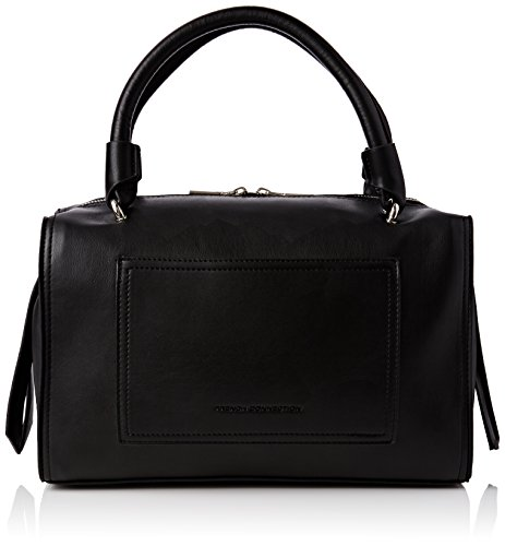 French Connection Damen STABSTITCH Betty Boarded HOLDA Bowlingtaschen, Schwarz (Black 1), 32x19x15 cm
