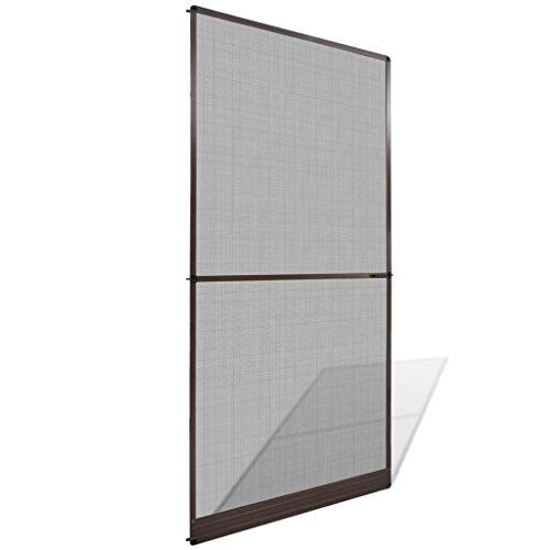 Vidaxl zanzariera con cardini porte finestre marrone 120x240cm tenda moschiera