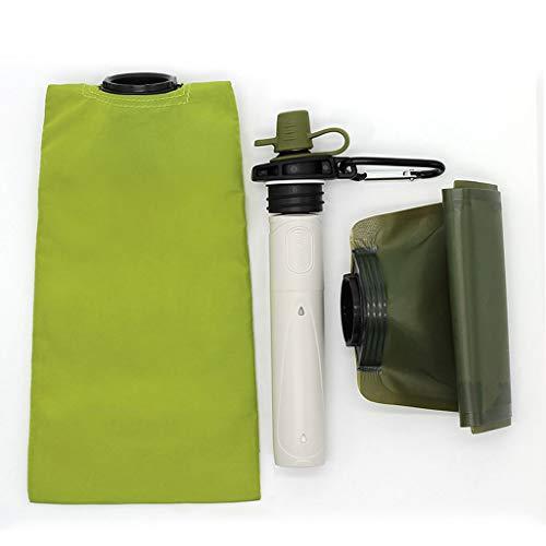 WPCBAA Tragbares Notfall-Überlebenskit für Wasserfilter für Camping, Wandern und Outdoor-Sportarten