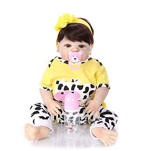 Lebensechte Babypuppen 22 Zoll 57cm Reborn Babys Mädchen Baby Geboren Puppe Weiche Babypuppe