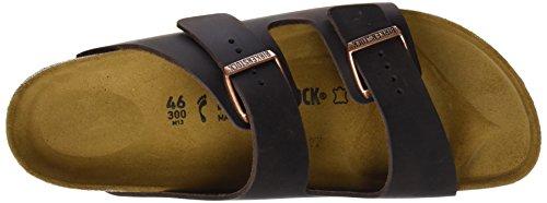 Birkenstock Classic Arizona Leder Unisex-Erwachsene Pantoletten Braun (Habana)
