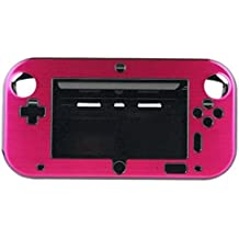 Xfuny(Tm) Anti Shock Hard Aluminum Metal Box Cover Case Shell For Nintendo Wii U Gamepad Remote Controller Rose Red