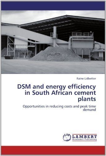 DSM and energy efficiency in South African cement plants: Opportunities in reducing costs and peak time demand by Lidbetter, Raine (2012) Paperback