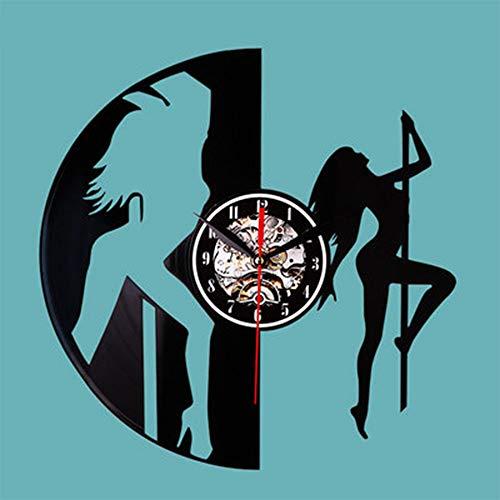SKAISK Ruhige Rekorduhren Spiegeluhr Feiertags-Tür-Geschenk-Stellen-kreative Verzierung -