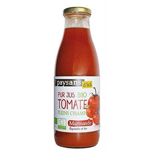Ethiquable - Reiner Bio-Marmeladensaft 75Cl - Pur Jus De Tomate De Marmande Bio 75Cl - Preis Pro Einheit - Schnelle Lieferung