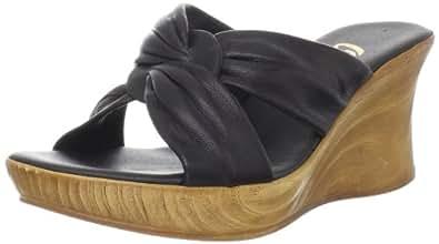 Onex Women's Puffy Wedge Sandal Black 6 B(M) US