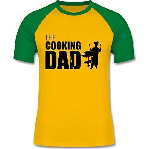 Grill - The cooking Dad - zweifarbiges Baseballshirt für Männer Gelb/Grün