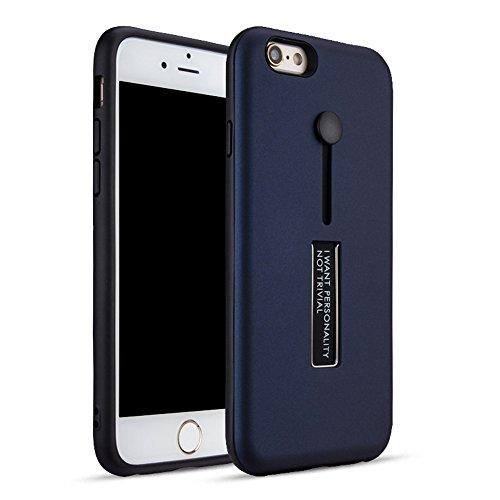 """MOONCASE iPhone 6 Plus/iPhone 6s Plus Coque, Ultra Slim Robuste PC Bumper Housse Dual Layer Antichoc avec Support Protection Kits Case pour iPhone 6 Plus/6s Plus 5.5"""" Bleu Bleu"""