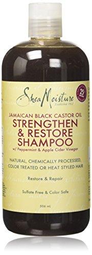 Humectación de karité, aceite de ricino negro jamaicano, champú fortalecedor/crecimiento y restauración, 506ml.