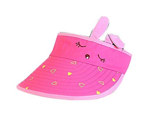 Preisvergleich Produktbild Kinder Sonnenschutz Hut Mädchen Mütze ohne Top 2-4 Jahre (Rose Red)