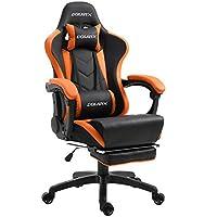 Dowinx silla gaming sillón reclinable ergonómica para computadora con soporte lumbar masaje, sillón estilo competición