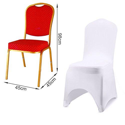Universal Stretch Stuhlhussen |10 Stück, weiß - 2