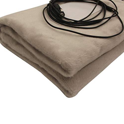 12 V Heizdecke Werfen Elektrische Für Bett, Königin Größe Tragbare Komfortable Nette Hochwertige Plüsch Warme Decke, LCD Intelligente Thermostatsteuerung, 145 100 Cm, Für Autos Lkw Und Wohnmobile
