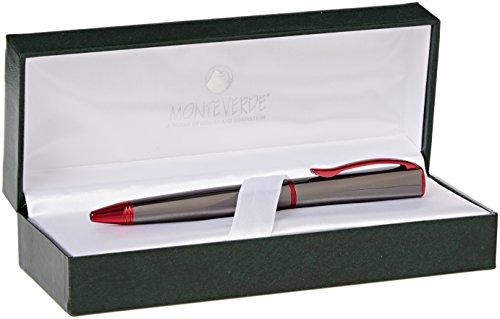 Monteverde-Pistola in metallo/Rosso Trim Roller/Penna a sfera