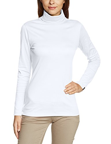 Trigema - Rollkragen-Shirt, Abbigliamento da donna,  manica lunga bianco(Weiß)