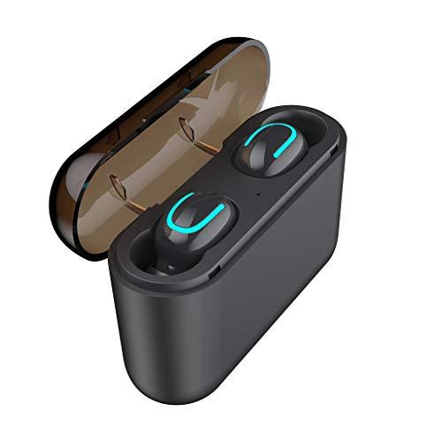 TWS Wireless Bluetooth Headset 5.0 Kopfhörer Sport Mini Ohrhörer Kopfhörer Büro/Fahren ohrhörer für Business/Büro/Fahrenwireless Rose rot tv rosa Noise Cancelling wasserdicht HROIJSL (Bose Bluetooth-stereo-headset)