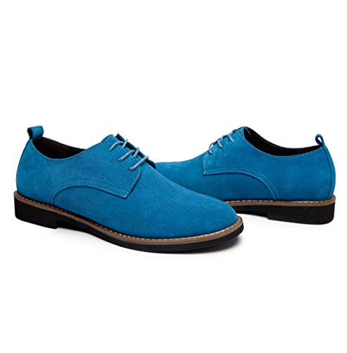 Heart&M casual en cuir véritable coupe-bas suede cuir chaussures Light Blue