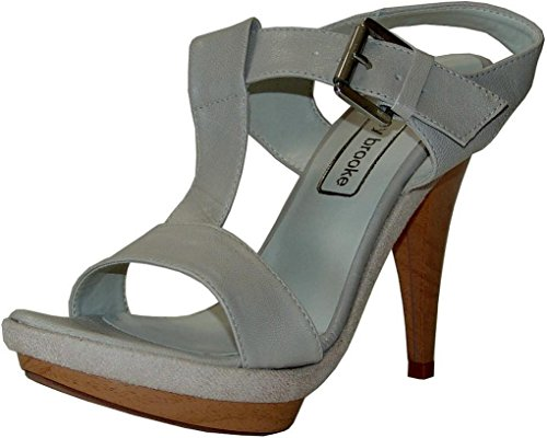 Ashley Brooke Sandaletten 42848 grau Leder Taupe