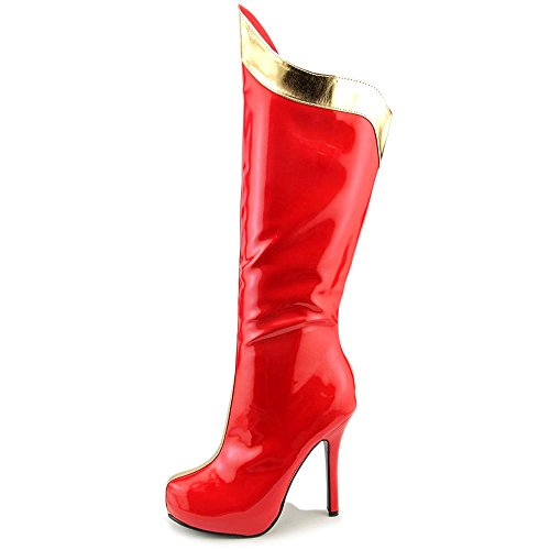 Pleaser Gogo 305, Stivaletti Donna Red and Gold