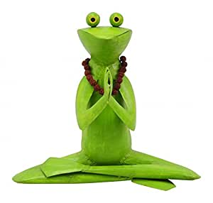 metallfigur metalldeko yoga frosch mit kette gartendeko gartenfigur 29 cm deko k che. Black Bedroom Furniture Sets. Home Design Ideas