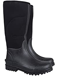 Mountain Warehouse Neoprene Mucker Casual Mens Wellies - Waterproof Rain Boots, Easy Wipe Clean Wellington Boots, Durable, Sturdy Shoes - for Walking, Travelling