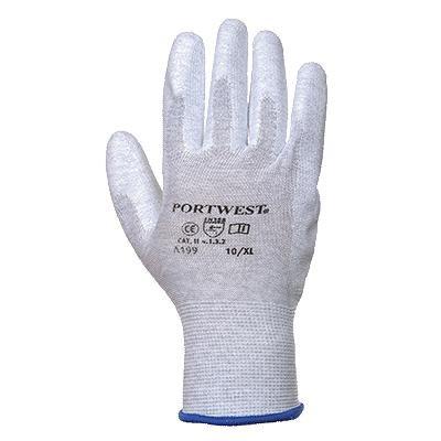 Antistatic PU Palm Work Gloves Safety Workwear Electronics Assembly A199 [L]