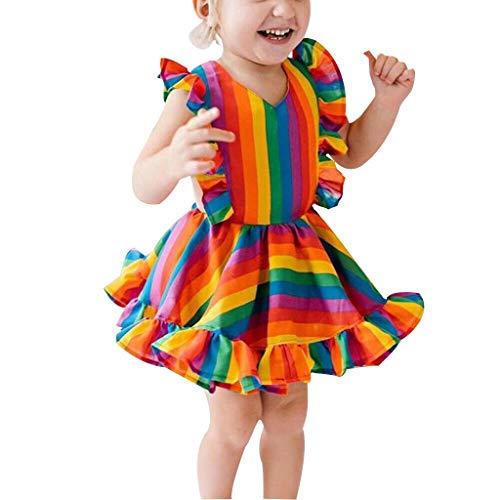 Obestseller Festlich Mädchen Kleid für Kinder Prinzessin Spitzen Kleider Hochzeit Blumenmädchenkleid (Ariel Halloween-kostüme Für Kleinkinder)
