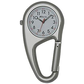 A-Taschenuhr-Uhr-Unisex-Karabiner-Docteurs-Krankenschwestern-durch-Ravel-R110501