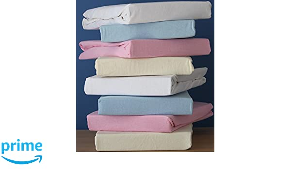 Baumwolljersey Pink /& Blau DuDu N Girlie Spannbettlaken f/ür Moseskorb//Kinderbett 2/St/ück