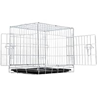 EUGAD Hundekäfig Faltbar Transportkäfig Hundebox Transportbox Hunde Auto 122 * 76 * 81 cm 0214HT