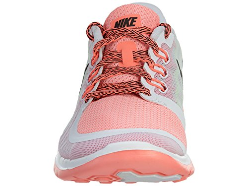 Nike Free 5.0 (Gs) Scarpe da corsa, Bambine e ragazze, Multicolore (Hypr Grape/Ghst Grn-Mtllc Slvr), 37 1/2 White/Black/Pink Pow/Lava Glow