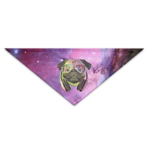 DJ Rainbow Mops mit Rica Flad Unkraut Sonnenbrille Baby Haustier Dreieck Kopftücher Hundeschals Welpen Dreieck