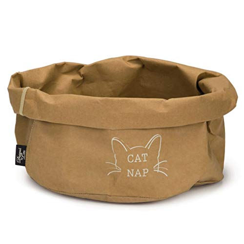 Katzenbett Cat Nap - braun - Designed by Lotte - aus Wellpappe und präpariertem Papier - Katzenhöhle