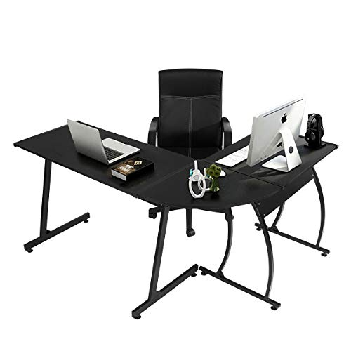 Coavas Computer Büro Schreibtisch L-förmige Holz Ecke Schreibtisch Computer Große Tisch Für