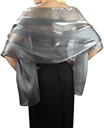 Amazon.co.uk: Silver - Scarves &amp- Wraps / Accessories: Clothing