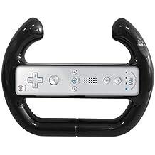 G-HUB® - VOLANT ATTACHE en NOIR pour Nintendo Wii / Wii-U - Conçu pour Nintendo Wii Controller (WiiMote) - Convient pour l'utilisation avec les jeux volant compatibles (tels que Mario Kart 8 / Mariokart Wii / GT Pro Series / Disney Pixar Cars 1 & 2 / Sonic & Sega All-Stars Racing / etc, ainsi que beaucoup d'autres.)