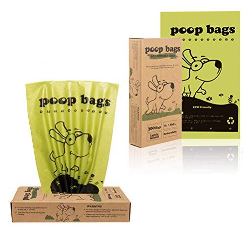 HOMIMP - Bolsas de Basura para Perros, biodegradables, 300 Unidades, para eliminación de Mascotas