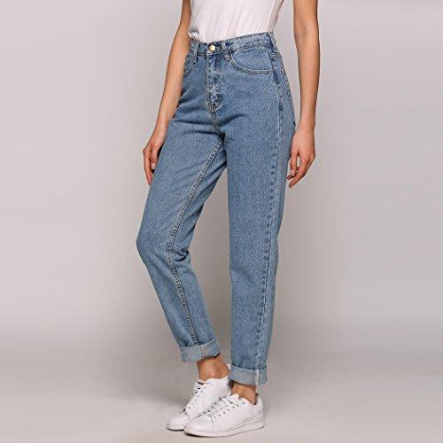 sito affidabile 1ad50 de7d7 Lomon Jeans Vita Alta da Donna Jeans Denim Blue Jeans Donna ...