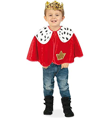 Kostüm Prinz Charles - KarnevalsTeufel Kinderkostüm Cape König mit Hermelinfell-Optik